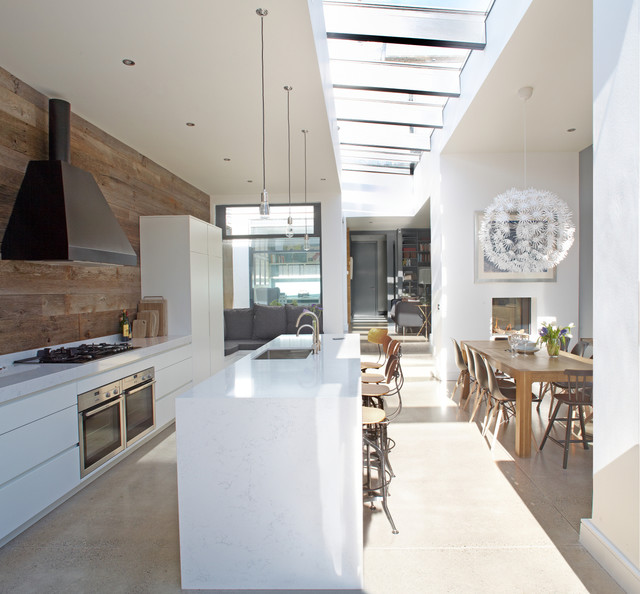 25 Captivating Ideas For Kitchens With Skylights: House In Dublin 4
