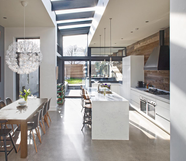 Design For Living Room With Open Kitchen Houzz Home Design: House In Dublin 4