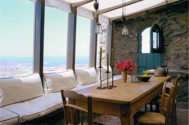 House In Greece Mediterranean Kitchen By Deborah French Designs