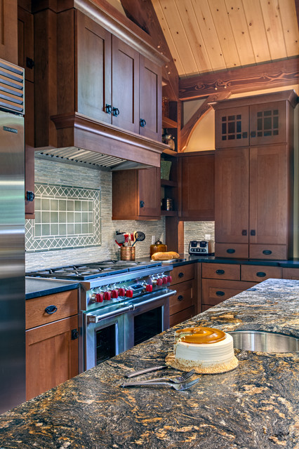 House in the tree tops- Kitchen Design - Craftsman ...