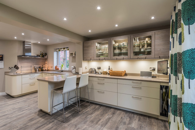 house in wilmslow contemporary kitchen cheshire by american black walnut kitchen windermere cumbria