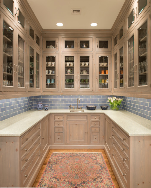 Houston home butler room traditional kitchen houston for Kitchen designs with butler pantry