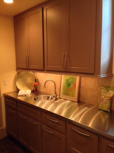 Houston New Construction transitional-kitchen