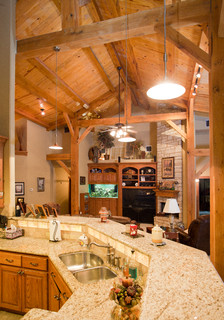 Houston Timber Frame - Traditional - Kitchen - Houston - by Texas Timber Frames