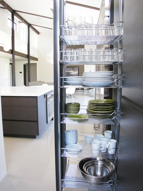 Midcentury Kitchen by Tara Bussema - Neat Organization and Design