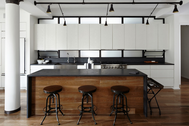 Hudson Loft, NYC modern kitchen