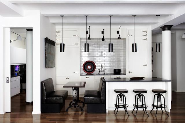 Hudson Loft, NYC Contemporary Kitchen