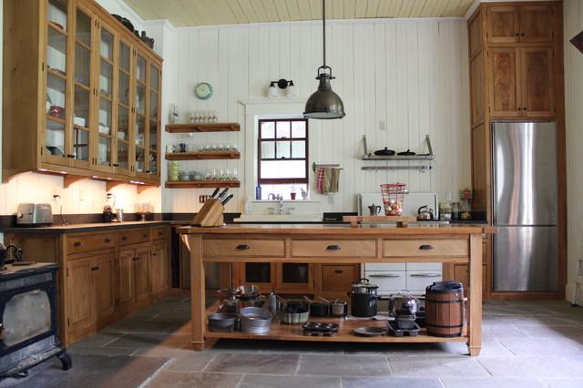 Charming Hudson Valley Farmhouse Kitchen Farmhouse Kitchen