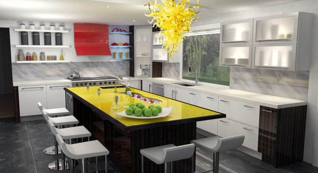 Huntington Ny Contemporary Kitchen New York By Ia Design Inc