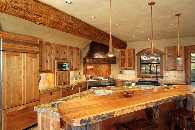 Hybrid log house traditional kitchen vancouver by for Log home kitchen designs