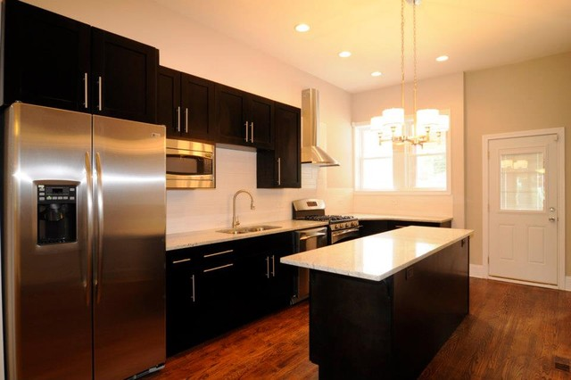 Hyde Park Townhome contemporary-kitchen