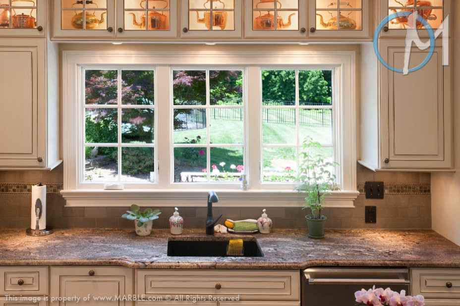 Ibere Crema Bordeaux Granite Kitchen Countertops ...