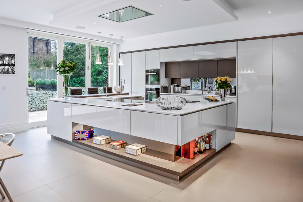 Photo of a contemporary kitchen in Sussex.