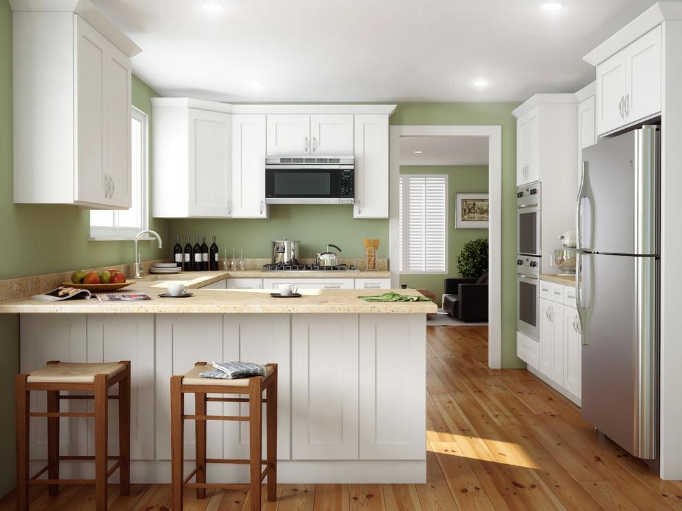 Ice White Shaker Kitchen Cabinets - Contemporary - Kitchen ...