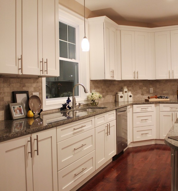 Ice White Shaker Spec Transitional Kitchen Other