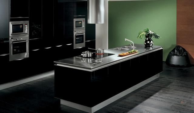 Grey High Gloss Kitchen Cabinets Grey High Gloss Lacquer