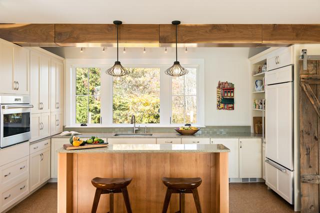 Idlewild acres farmhouse kitchen boston by greg delory aibd for Kitchen design showrooms boston