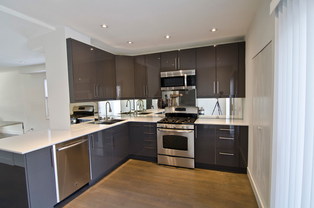 Ikea Abstrakt grey kitchen - Contemporary - Kitchen - toronto - by TS KITCHEN PROJECTS