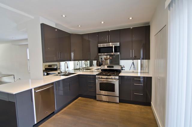 Ikea Abstrakt Grey Kitchen Contemporary Kitchen
