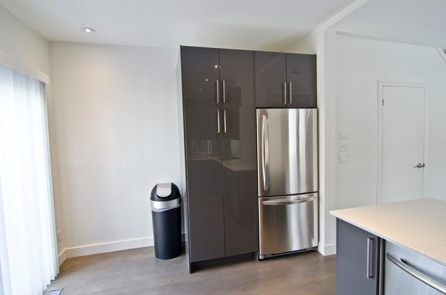 Ikea abstrakt grey kitchen contemporary kitchen toronto by ts