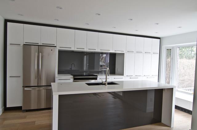 Ikea Abstrakt White Custom Modern Kitchen Toronto