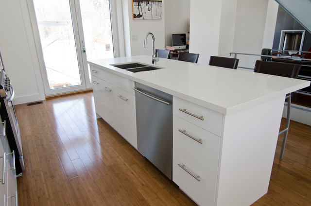 Ikea Modern Kitchen ikea abstrakt white kitchen - modern - kitchen - toronto -ts