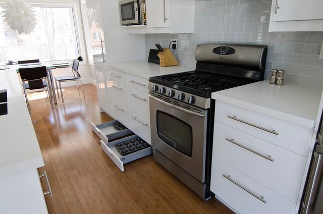 Ikea abstrakt white kitchen modern kitchen toronto for Abstrakt kitchen cabinets