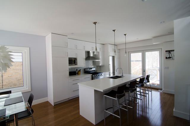 IKEA Abstrakt white kitchen - Modern - Kitchen - toronto ...