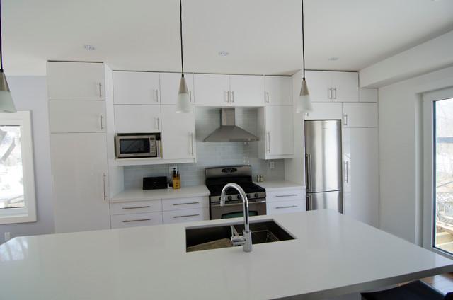 Ikea abstrakt white kitchen modern kitchen toronto by ts