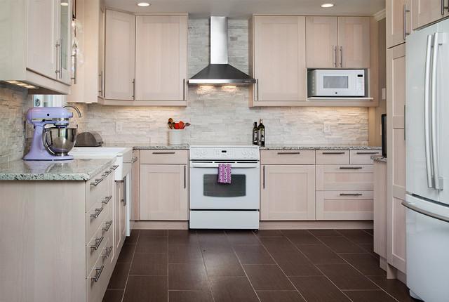Ikea Adel Birch Kitchen Transitional Kitchen Nashville By