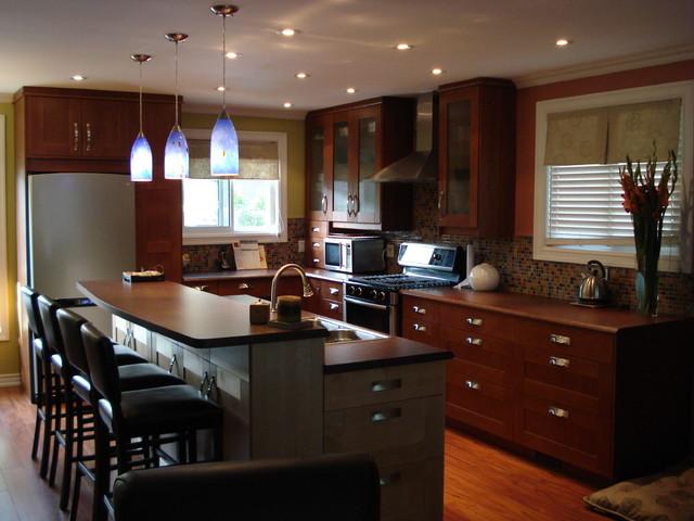 ikea adel medium brown modern kitchen - Medium Brown Kitchen Cabinets