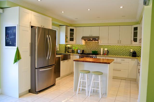 Ikea Adel Off White Contemporary Kitchen Toronto