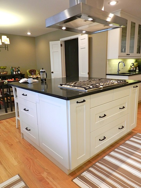IKEA Adel White in Princeton NJ - Traditional - Kitchen - new york - by Basic Builders, Inc.