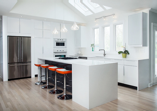 Ikea High Gloss White Kitchen By ModerNash Of Nashville TN Contemporary