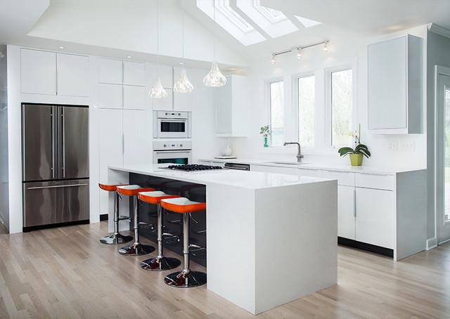 Ikea High Gloss White Kitchen By Modernash Of Nashville Tn Contemporary Kitchen Nashville By Modernash Furniture Supply Corporation