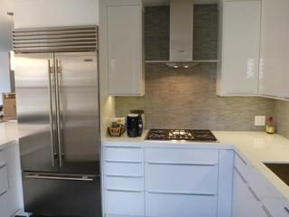 IKEA Kitchen Abstrakt White custom in Manhattan - Modern - Kitchen - new york - by Basic ...
