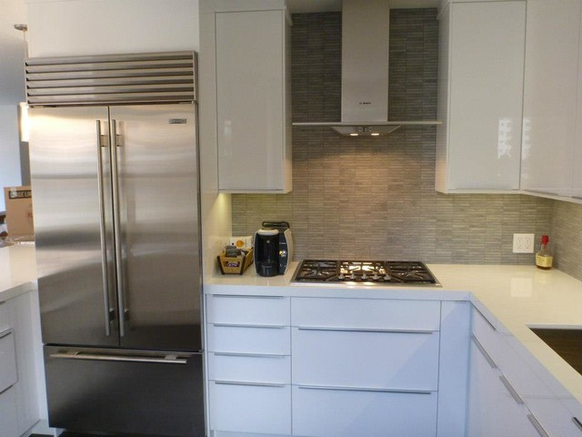 Ikea kitchen abstrakt white custom in manhattan modern for New york kitchen units