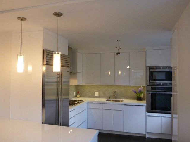 IKEA Kitchen Abstrakt White Custom In Manhattan Modern Kitchen New York