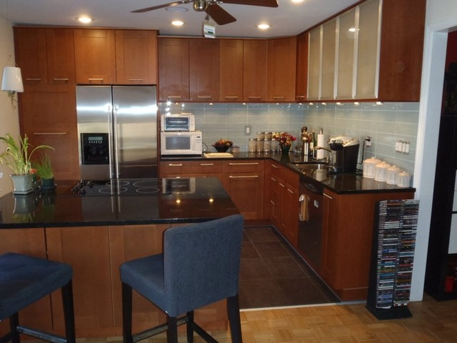 Charmant IKEA Kitchen Adel Medium Brown In HobokenContemporary Kitchen, New York
