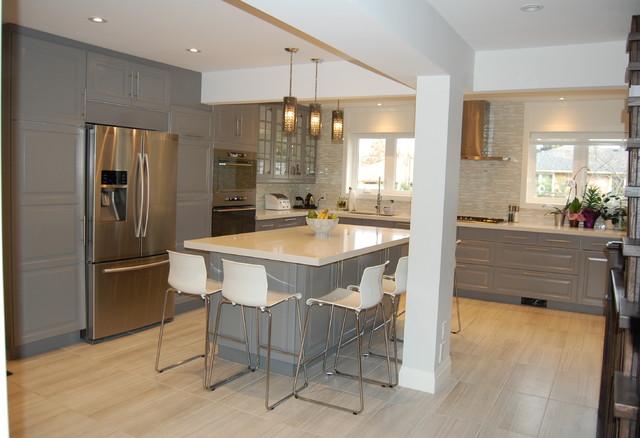 Ikea kitchen bodbyn grey   classico   cucina   toronto   di bml ...