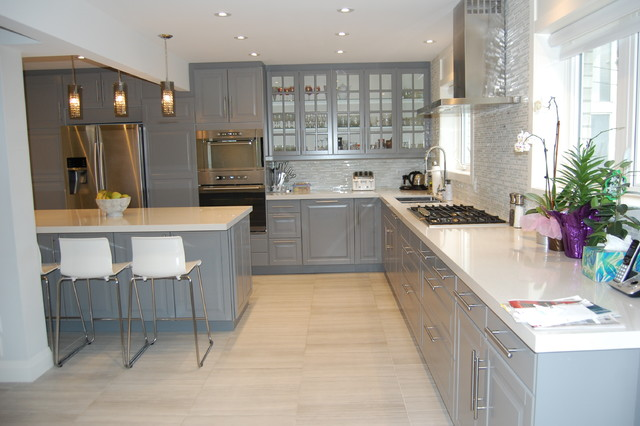 Ikea Kitchen Bodbyn Grey American Traditional Kitchen Toronto By Bml Ikea Kitchen Installers