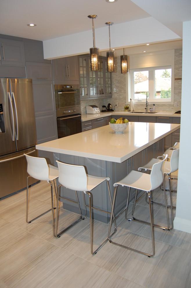 Ikea Kitchen Bodbyn Grey Traditional Kitchen Toronto By Bml Ikea Kitchen Installers