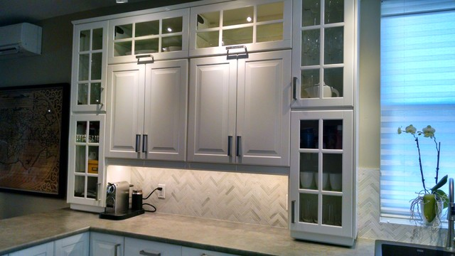 IKEA kitchen BODBYN off white   Traditional   Kitchen   Toronto   by