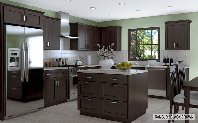 Inspiration For A Transitional L Shaped Eat In Kitchen Remodel In Miami  With A