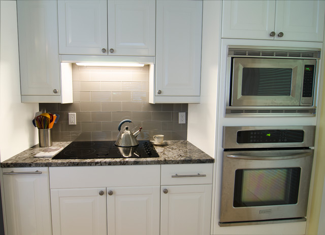 IKEA's Lidingo white cabinets remodel  Transitional  Kitchen