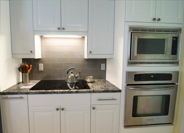 IKEA's Lidingo white cabinets remodel - Transitional ...