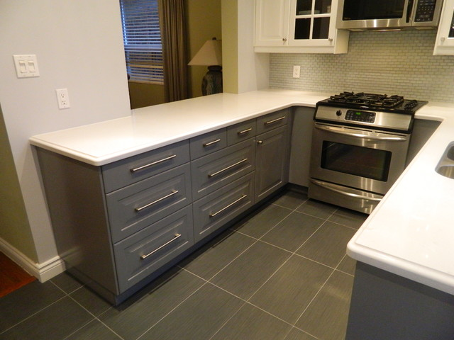 IKEA Kitchens  Lidingo Gray and Lidingo White traditional kitchen