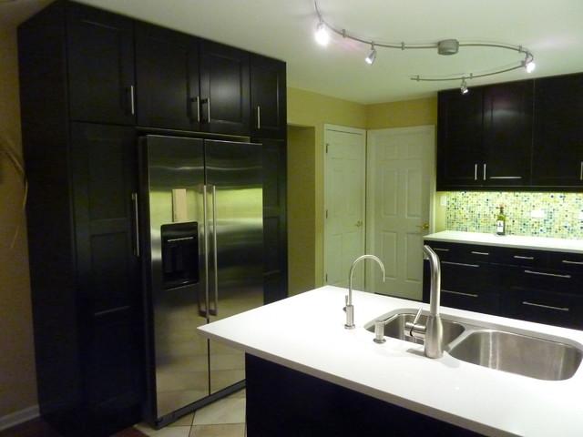 Ikea Ramsjo Kitchen Remodel Contemporary Kitchen Chicago
