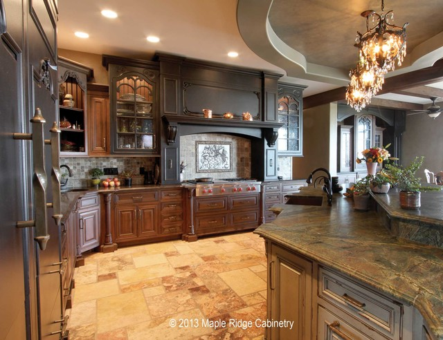 Illinois Country Estate traditional-kitchen