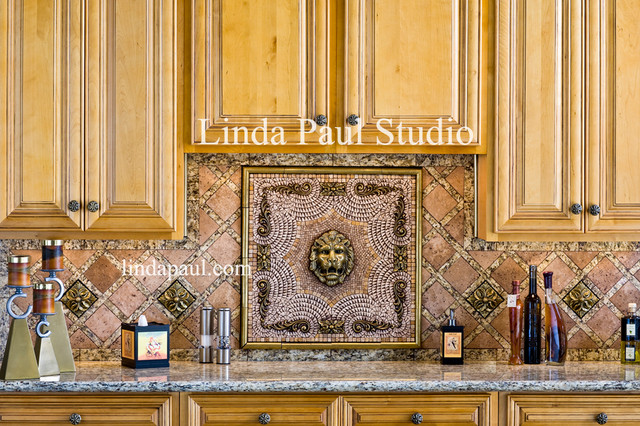 Imperial Lion Head Kitchen Backsplash Medallion And Design